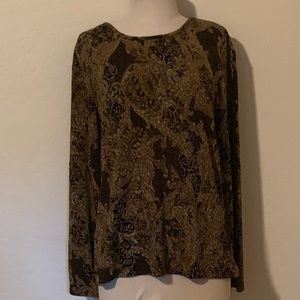 Chico's Size 2 Gold and Black Dress